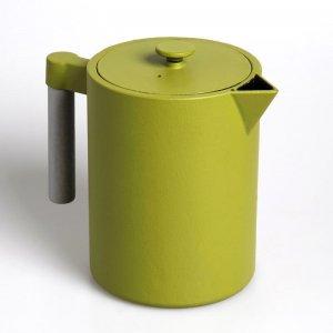 """Die kostbare Teekanne """"Kohi"""" aus Gusseisen in der Farbe grün fasst 1,2 Liter"""